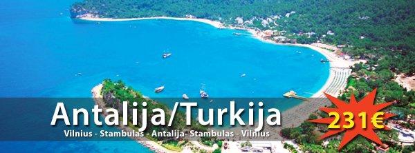 Pavasario atostogos Turkijos kurorte Antalijoje! Skrydis tik 231€ su Turkish Airlines