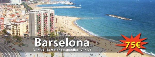 Pavasario atostogos Barselonoje! Tiesioginis skrydis iš Vilniaus į abi puses tik 75€!