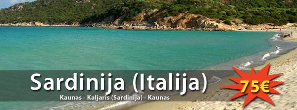 Super pasiūlymas! Skrendam į Sardiniją tik už 75€ į abi puses