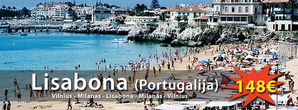 Portugalija, Lisabona. Skrydis tik 148eur į abi puses