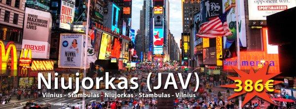 Niujorkas iš Vilniaus balandžio mėn tik 386€ į abi puses!